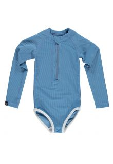 Beach-&-Bandits---UV-Bathingsuit-for-girls---Ribbed---Reef-blue