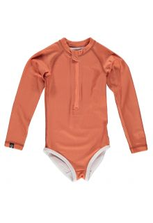 Beach-&-Bandits---UV-Bathingsuit-for-girls---Ribbed---Clay