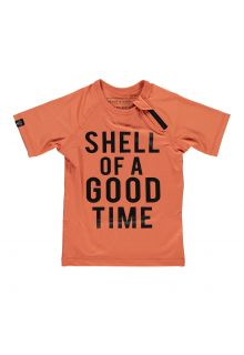 Beach-&-Bandits---UV-Swim-shirt-for-kids---Shell-of-A-Good-Time---Clay