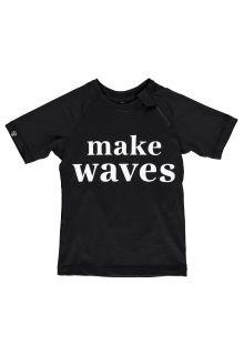 Beach-&-Bandits---UV-Swim-shirt-for-kids---Make-Waves---Black