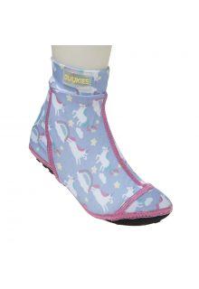 Duukies---Girls-UV-Beach-Socks---Unicorn-Lilac-Pink---Purple