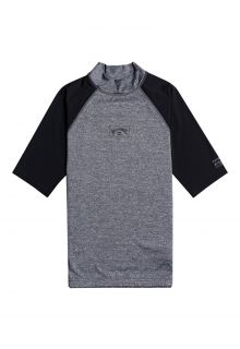 Billabong---UV-Rashguard-for-men---Short-sleeve---Contrast---Grey