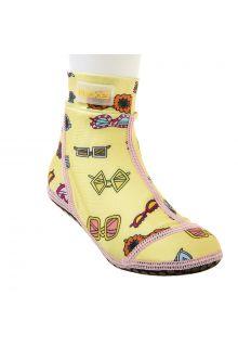 Duukies---Girls-UV-Beach-Socks---Yellow-Summer---Yellow