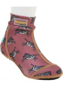 Duukies---Girls-UV-Beach-Socks---Zebra-Raspberry---Raspberry-
