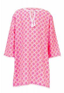 Snapper-Rock---Beach-tunic-Diamond---Coral-pink