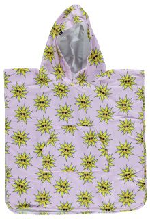 Beach-&-Bandits---UV-Poncho-for-girls---Sunny-Flower---Pink