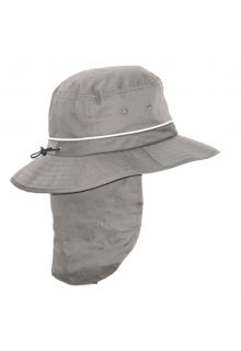 Rigon---UV-Bucket-hat-for-men-with-neck-flap---Grey