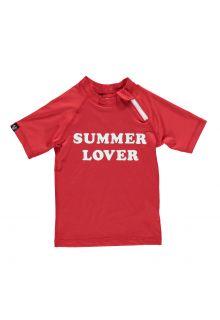 Beach-&-Bandits---Girls'-UV-swim-shirt---Summer-Lover---Red