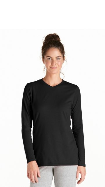 Coolibar---UV-Long-Sleeve-T-Shirt---black
