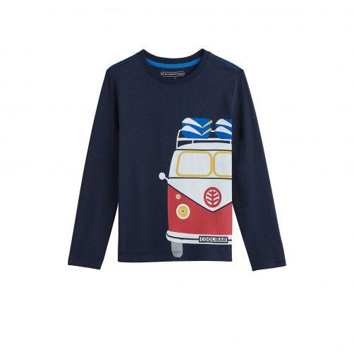 Coolibar---UV-shirt-for-kids---vintage-camper---dark-blue