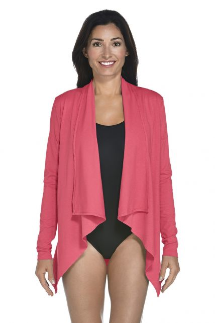 Coolibar---UV-Vest-women---Coral