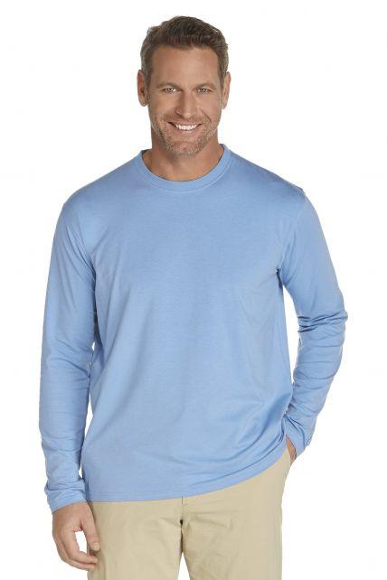 Coolibar---UV-Long-Sleeve-T-Shirt---Light-blue