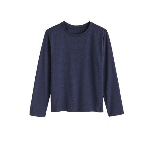 Coolibar---UV-shirt-for-children-longsleeve---Midnight-blue