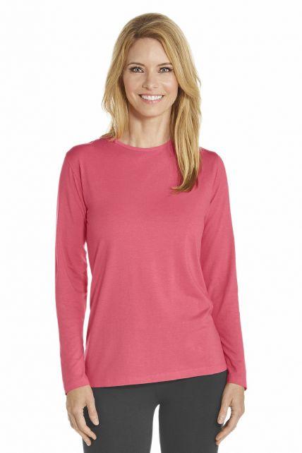 Coolibar---T-Shirt-long-sleeve---Coral
