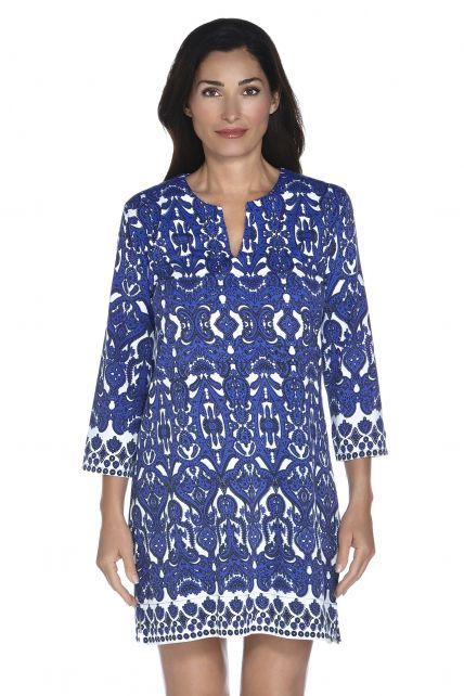 Coolibar---UPF-50+-Women's-Oceanside-Tunic-Dress---Moroccan-Cobalt