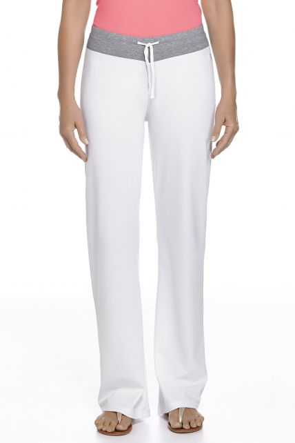 Coolibar---UPF-50+-Women's-Lakefront-Pants---White/Grey-Heather