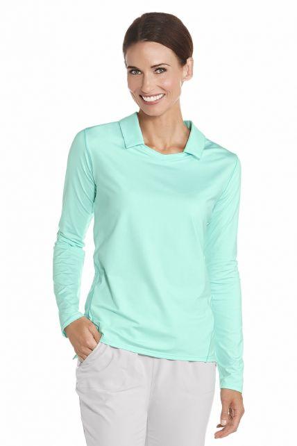 Coolibar---UV-Polo---Long-sleeves---Mint