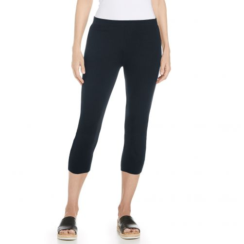 Coolibar---UV-capris-for-ladies---dark-blue