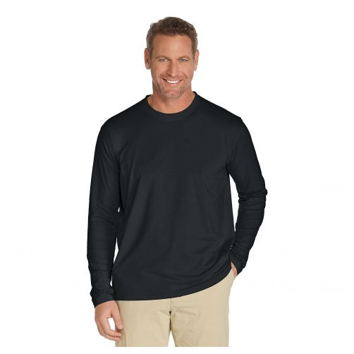 Coolibar---UV-longsleeve-shirt-for-men---Black