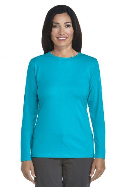 Coolibar---UV-Long-Sleeve-T-Shirt---azure