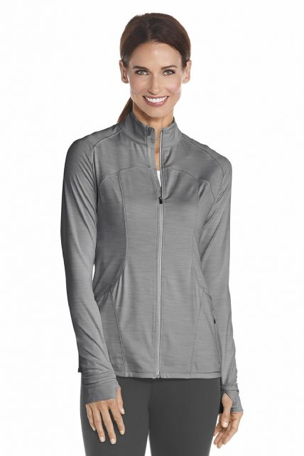 Coolibar---UV-Women-Workout-Jacket---Grey
