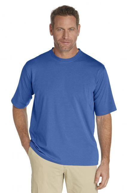 Coolibar---Short-sleeve-UV-sport-tee---denim-blue