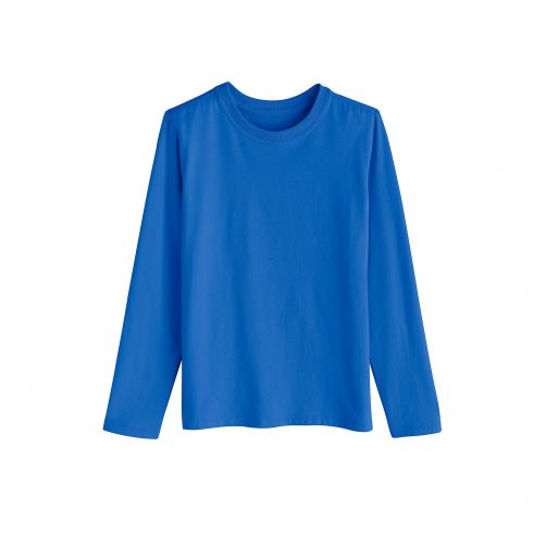 Coolibar---UV-shirt-for-children-longsleeve---Brilliant-blue