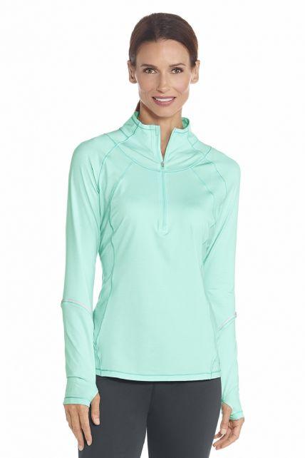 Coolibar---UV-Polo---Sweater---Mint