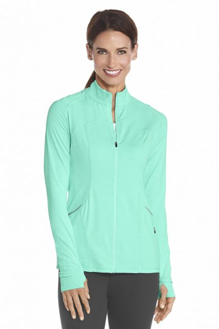 Coolibar---UV-Women-Workout-Jacket---Aqua