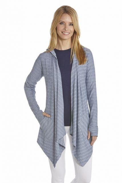 Coolibar---UV-asymmetric-vest-women---DarkBlue/White