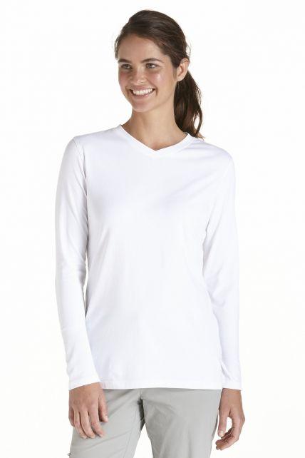 Coolibar---UV-Long-Sleeve-T-Shirt---white