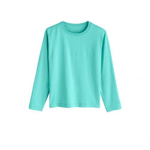 Coolibar---UV-shirt-for-children-longsleeve---Crisp-Aqua-blue