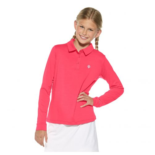 Coolibar---UV-polo-for-girls---pink