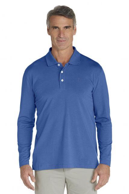 Coolibar---Sport-UV-Polo---denim-blue