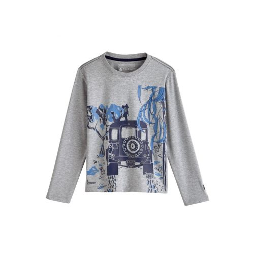 Coolibar---UV-shirt-for-children-longsleeve---Safari-Jeep-heather-grey
