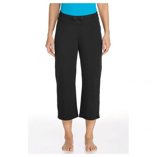 Coolibar---UV-Beach-Capris---Black