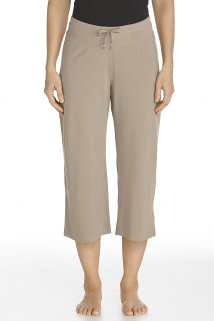 Coolibar---UV-Beach-Capris---taupe