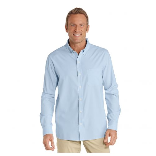 Coolibar---UV-shirt-for-men---Light-blue