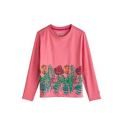 Coolibar---UV-shirt-for-kids---flower-garden---pink