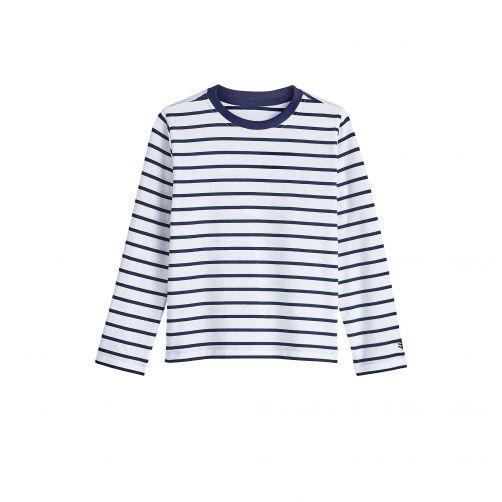 Coolibar---UV-Shirt-for-kids---Longsleeve---Coco-Plum---White/Navy
