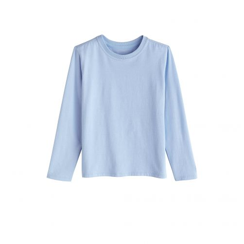 Coolibar---UV-shirt-for-children-longsleeve---Vintage-blue