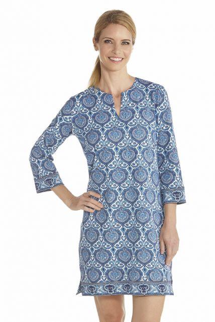 Coolibar---UV-Tunic-women---Blue