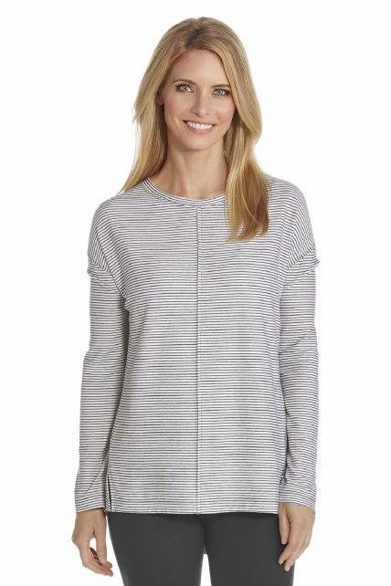 Coolibar---UV-T-Shirt-women---Black/White