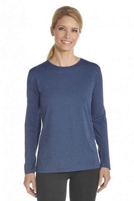 Coolibar---T-Shirt-long-sleeve---Dark-Blue