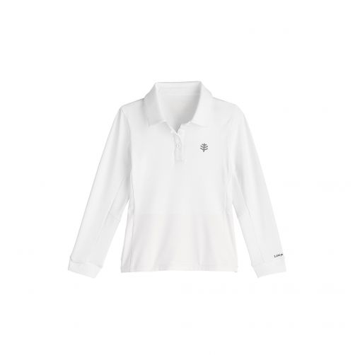 Coolibar---UV-polo-for-girls---white