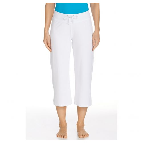 Coolibar---UV-Beach-Capris---White
