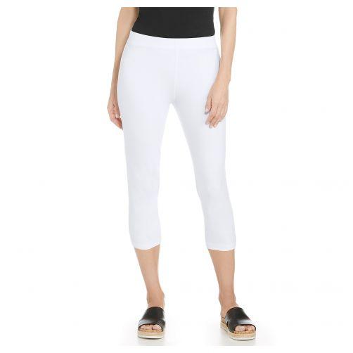 Coolibar---UV-capris-for-ladies---white
