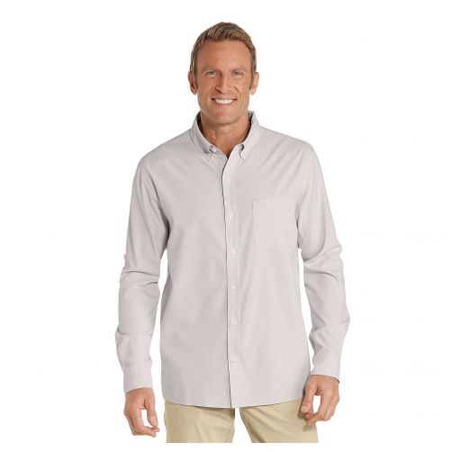 Coolibar---UV-shirt-for-men---Stone-grey