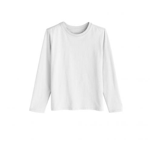 Coolibar---UV-shirt-for-children-longsleeve---White