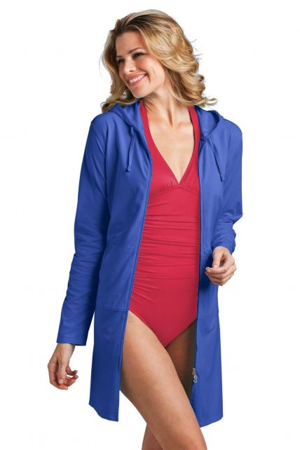 Coolibar---UV-long-cover-up-for-ladies---Blue